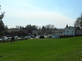 Arlington, New York - Main Street, seen from top of hill at Church of the Holy Trinity