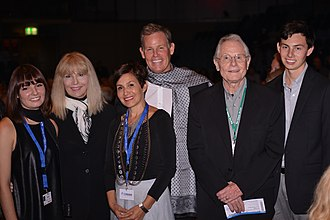 Brent Armitage - Armitage receiving Cinematic Achievement Award German Film Festival - Oldenburg, Germany