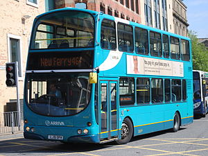 Deutsche Bahn - Arriva North West Wright Eclipse Gemini bodied Volvo B7TL in Liverpool in June 2013