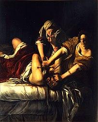 Artemisia Gentileschi: Judith Beheading Holofernes