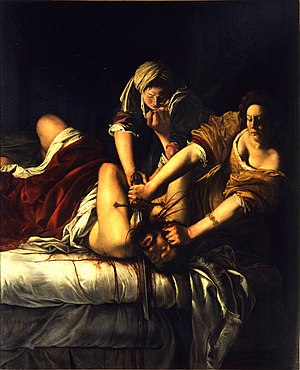 Artemisia Gentileschi - Judith Slaying Holofernes (1614–20) Oil on canvas 199 x 162 cm Galleria degli Uffizi, Florence