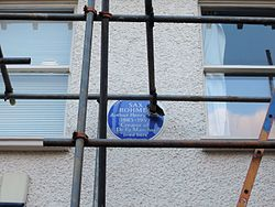 Photo of Arthur Henry Ward and Sax Rohmer blue plaque