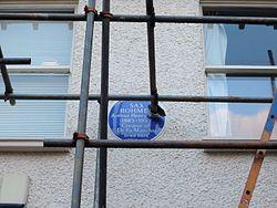 Photo of Sax Rohmer blue plaque