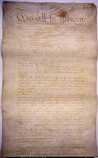 Confederation Period - The Articles of Confederation served as the first constitution of the United States