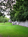 Ashford Castle stone wall and guard stations.jpg