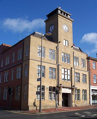 Ashington - The Town Hall houses the offices of Ashington Town Council.