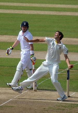 Ashton Agar - Agar bowling for Australia against England in 2013.