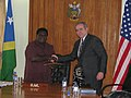 Assistant Secretary Campbell and Solomon Islands Prime Minister Danny Philip (5885985085).jpg