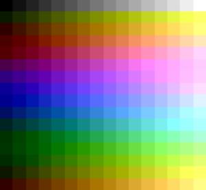 CTIA and GTIA - Image: Atari 8 bit GTIA NTSC palette