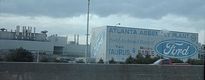 Atlanta Assembly - Former Atlanta Assembly plant photographed on I-75 in Hapeville, Georgia on January 12, 2007