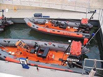 Atlantic 75-class lifeboat - Atlantic 75 B-713 alongside Atlantic 21 B-526 in 2005