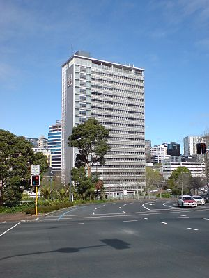 Auckland City Council - The Council Administration Block, a 1950s Modernist building near Aotea Square and Queen Street