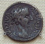 Indian imitation of a coin of Augustus. 1st century. British Museum.