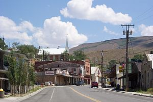Austin, Nevada - Austin in 2004, looking east on U.S. Route 50