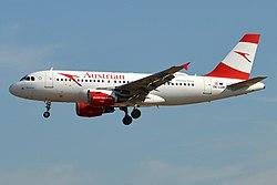 Austrian Airlines, OE-LDB, Airbus A319-112 (44341899432).jpg