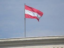 Austrian flag, Hofburg Palace.jpg