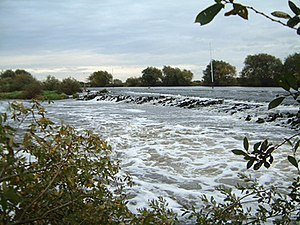 Averham - Averham weir at high water