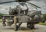 Aviation Groundcrew Specialists from 4 REGT AAC work on thier aircraft during Exercise Swift Response. MOD 45160147.jpg