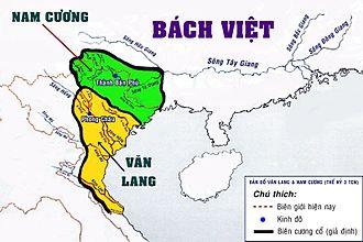 Văn Lang - Image: Bản đồ Văn Lang & Nam Cương