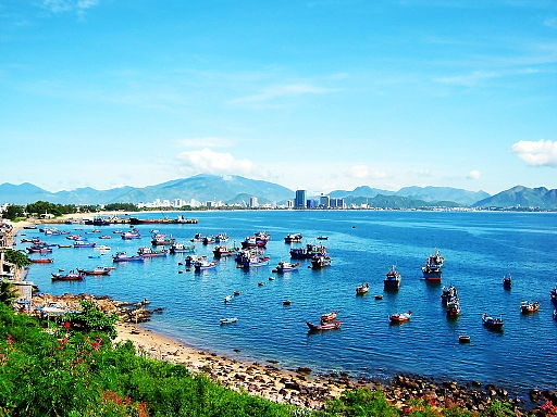 Bờ biển ở Nha Trang