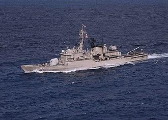 Lupo-class frigate - Peruvian frigate BAP Carvajal maneuvers through the Caribbean Sea during UNITAS 46-05