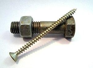 screw simple machine. A Screw And Bolt. Simple Machine