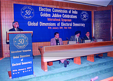At 50th Golder Jubilee Celebration, International Dimensions of Electoral Democracy, New Delhi, India.