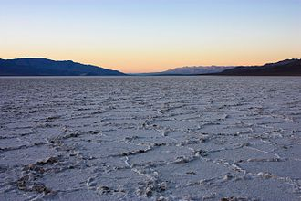 Lake Manly - Salts left behind by Lake Manly, in Badwater Basin