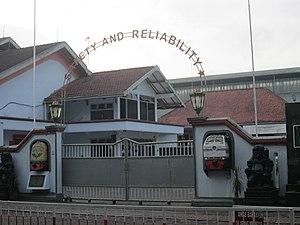 Kereta Api Indonesia - In front of Indonesian Railways Locomotives and Rolling Stocks Workshop in Jogjakarta.