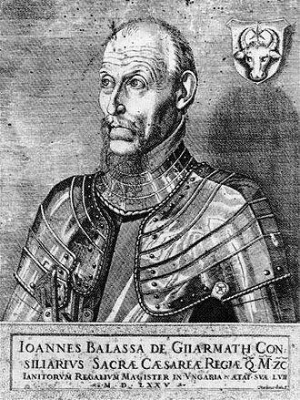 Master of the doorkeepers - János Balassa, Janitourm regalium magister in 1574-1576