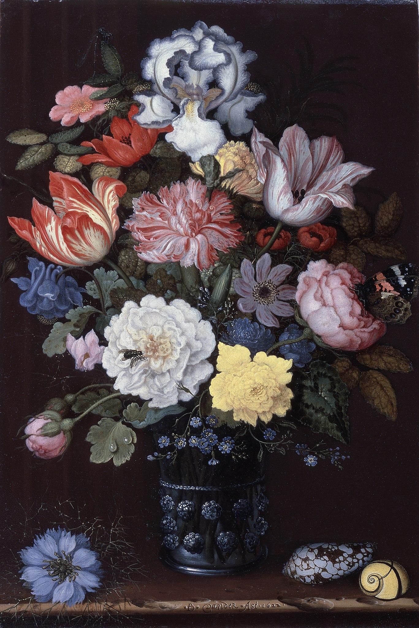 Balthasar van der Ast - Floral Still Life with Shells - 172-1955 - Saint Louis Art Museum