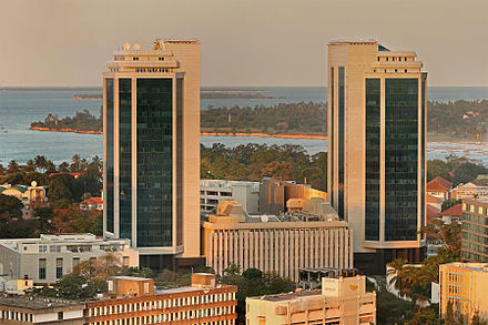Bank of Tanzania Twin Towers Bank of Tanzania golden hour.jpg