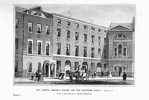 Zoological Society of London - Sir Joseph Banks' house was the initial meeting place for the Zoological Society
