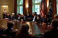 Barack Obama, Hamid Karzai & Asif Ali Zardari in trilateral meeting 5-6-09 2.jpg