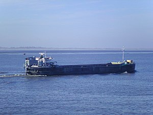 English: The self-propelled hopper barge HH 21...