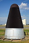 Barksdale Global Power Museum September 2015 22 (SM-68B Titan II RV nose cone).jpg
