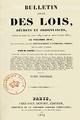 Barrot Odilon - Bulletin annoté des lois décrets, volume 1, 1834, page de titre.png