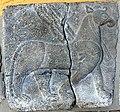 Basalt wall slab, relief, from Sam'al, Turkey, 10th-8th century BCE. A mythical creature. Pergamon Museum, Berlin, Germany.jpg