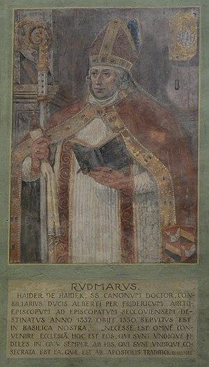 Basilika Seckau, Bischofskapelle, Halbfigurenportrait Bischof Rudmar von Hader.jpg