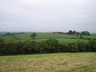 Battle of Benburb - Monroe's position on Derrycreevy during the Battle of Benburb, seen from the Irish position on Drumflugh