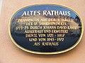 Bayreuth – Maximilianstrasse 33, Altes Rathaus (Schild).jpg