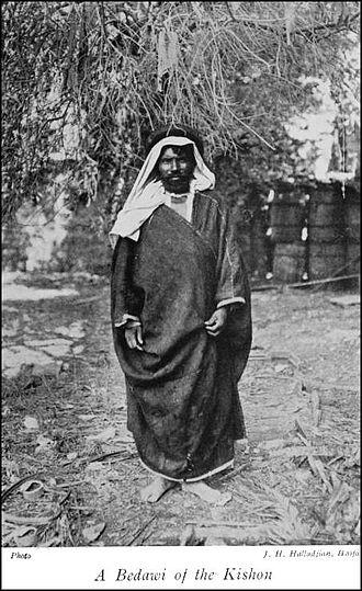 Northwest Arabian Arabic - A Bedawi-speaking Bedouin person, 1913