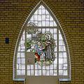Begane grond, glas-in-lood raam met religieuze voorstelling - Rosmalen - 20332320 - RCE.jpg