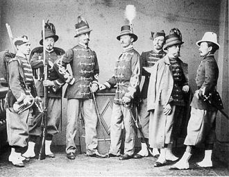 Battle of Tacámbaro - An 1865 photograph of Belgian Legion soldiers
