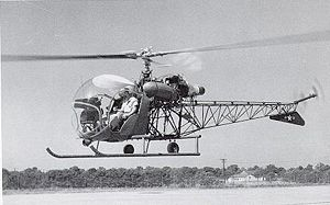 Continental T51 - The T51-powered Bell 201/XH-13F in a hover
