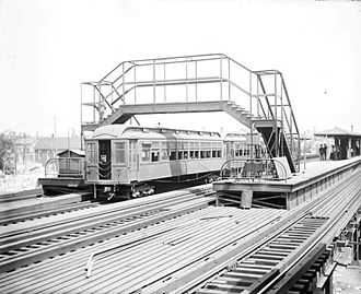 Belmont station (CTA North Side Main Line) - Belmont station as it appeared in 1907.