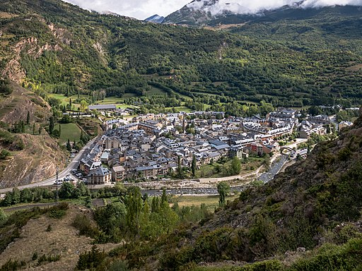 Mountain village of Benasque, Spain