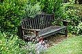 Bench on southern terrace, Easton Lodge Gardens, Little Easton, Essex, England 1.jpg
