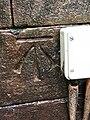 Benchmark at St James' Church, Christleton.jpg