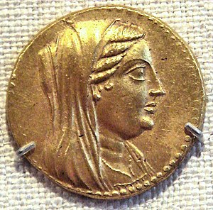 Berenice II of Egypt - Image: Berenike II On A Coin Of Ptolemy III